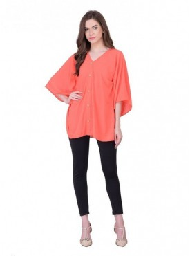 Cutemad Dark Peach Plain Top
