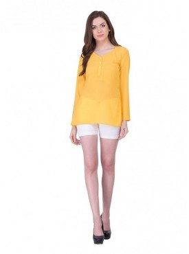 Cutemad Yellow Plain Top