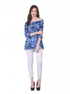 Cutemad Blue Printed Top