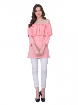Cutemad Peach Plain Top