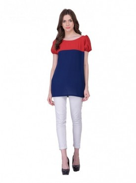 Cutemad Navy Blue Plain Top