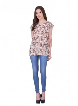 Cutemad Brown Printed Top