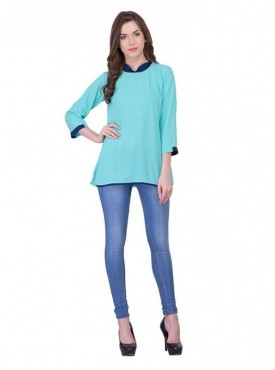 Cutemad Sky Blue Plain Top