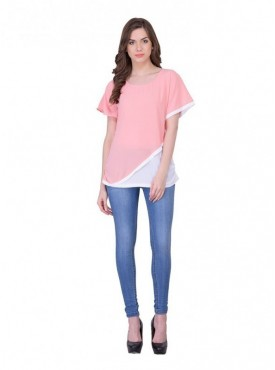 Cutemad white-Pink Plain Top