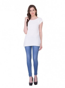 Cutemad White Plain Top