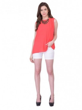 Cutemad Orange Plain Top