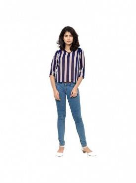Cutemad Women TopStripes blouse with pleats