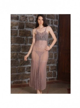Shyle Brown Gown Type Babydoll