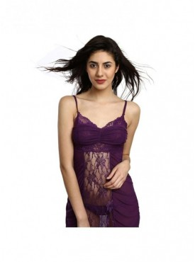 a0cbaee08bcf1 In Stock Shyle Purple Transparent Flyaway Style Babydoll