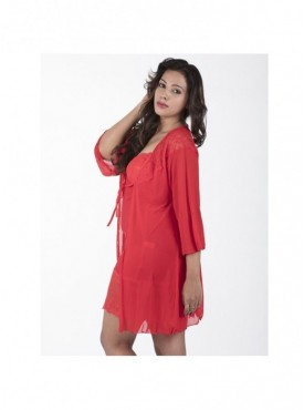 Shyle Red Lace Babydoll with Robe