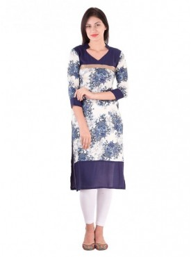 Self Designed Printed Stitched Kurti