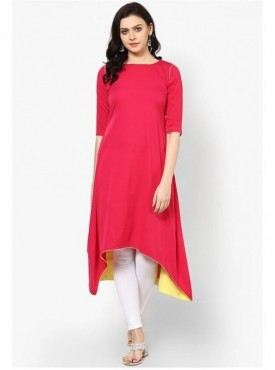 Shelina Cotton Pink Color Kurti
