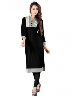 Shelina Rayon Black Color Kurti
