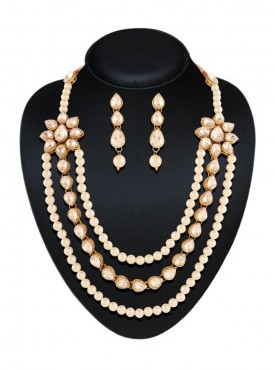 Women's Creative Necklaces in Cream & Off White Color