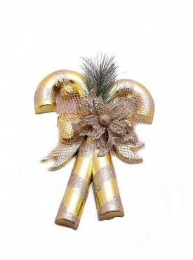 Christmas Decoration Golden Candy Cane Decor