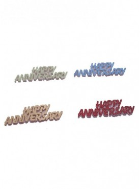 Happy Anniversary 3Mm Foam Colorful Mettalic Confetti
