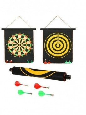 Double Sided Foldable Dart Board 4 Magnetic Darts