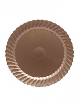 Golden High Quality Plastic Disposable Plate 10.5 Inch Size Pack Of 10