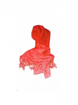 Generic Rayon Plain With Pearl Beads Scarf Size 2mtr (Orange )