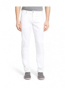 Ansh Fashion Wear Men White Strechable Denim Jeans