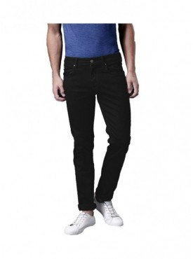 Ansh Fashion Wear Men Black Strechable Denim Jeans