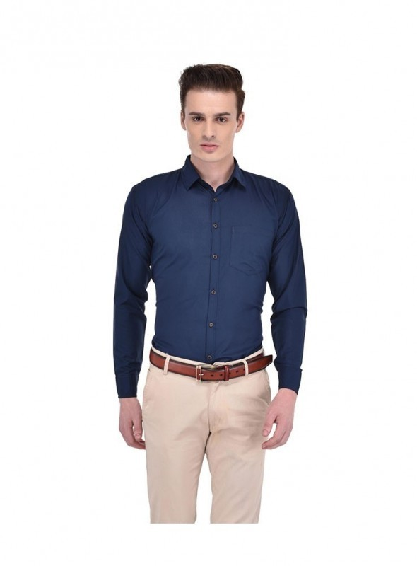 Ansh Fashion Wear Men Black Formal Wear Shirt
