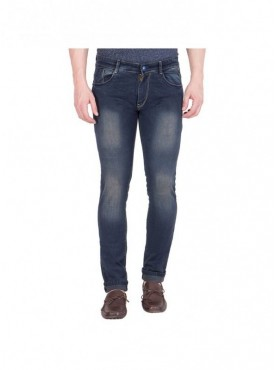 Spanish Men Faded Blue Slim Fit Jeans
