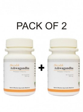 Ashwagandha- Withania somnifera 120 Capsules Special for Rejuvenation