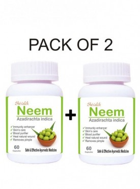 Neem- Azadirachta indica 120 Capsules Special for  Blood Purifier Skin Care