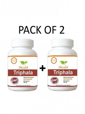 Triphala 120 Capsules Special for Constipation, Blood Circulation