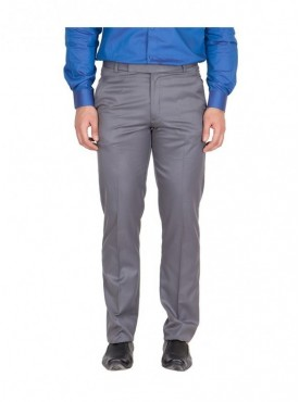 American-Elm Men Dark Grey Colour Formal Trouser