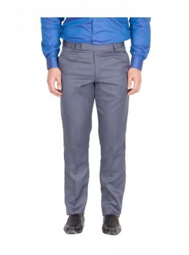 American-Elm Men Grey Blue Colour Formal Trouser
