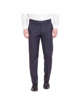 American-Elm Men Cotton Formal Trouser- Navy Blue