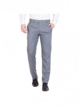 American-Elm Men Cotton Formal Trouser- Light Grey