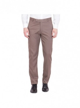 American-Elm Men Cotton Formal Trouser- Light Brown