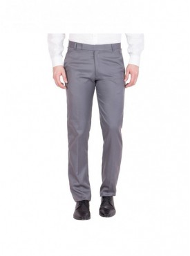 American-Elm Men Cotton Formal Trouser- Dark Grey