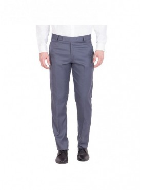 American-Elm Men Cotton Formal Trouser- Blue Grey
