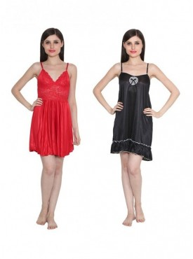 dcebd5c16 Ansh Fashion Wear Women Nightwear Babydoll Dress Pack of 2