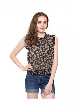 American-Elm Women Multicoloured Georgette Top
