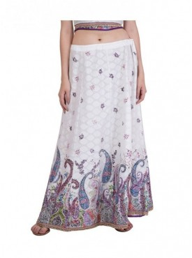 American-Elm Women White Cotton Skirt