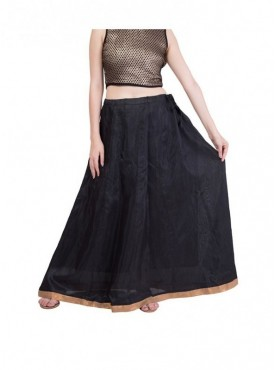 American-Elm Women Black Skirt