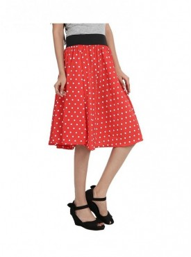 American-Elm Women Red Printed Skirts