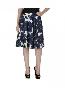American-Elm White Printed Skirt for Women