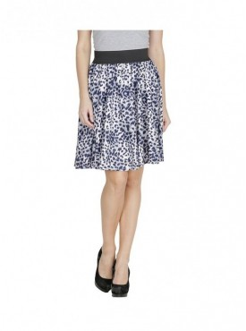 American-Elm Women Blue Printed Skirt
