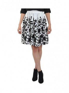 American-Elm Women White Printed Skirt