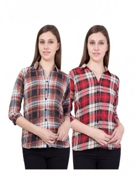 American-Elm Women Multicoloured Pack of 2 Shirts