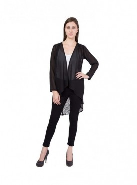 American-Elm Women Black Net Shrug