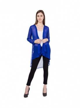 American-Elm Women Blue Net Shrug