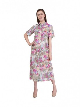 American-Elm Women Multicoloured Floral Dress