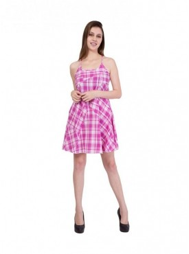 American-Elm Women Pink Sleeveless Dress